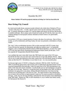 2019-12-04_Memo to Council_Car Tab Fees
