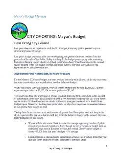 Mayor of Orting Josh Penner Balanced Budget 2019-20 (1)