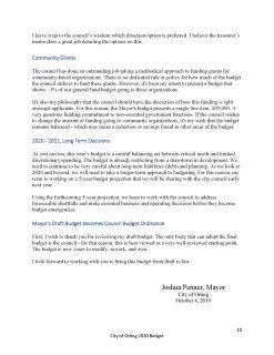 Mayor of Orting Josh Penner Balanced Budget 2019-20 (2)