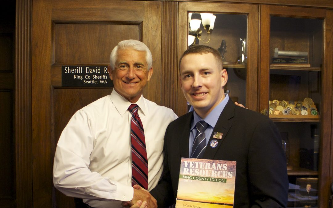 Mayor Penner meeting with Representative Dave Reichert in Washington DC to discuss Veterans benefits.